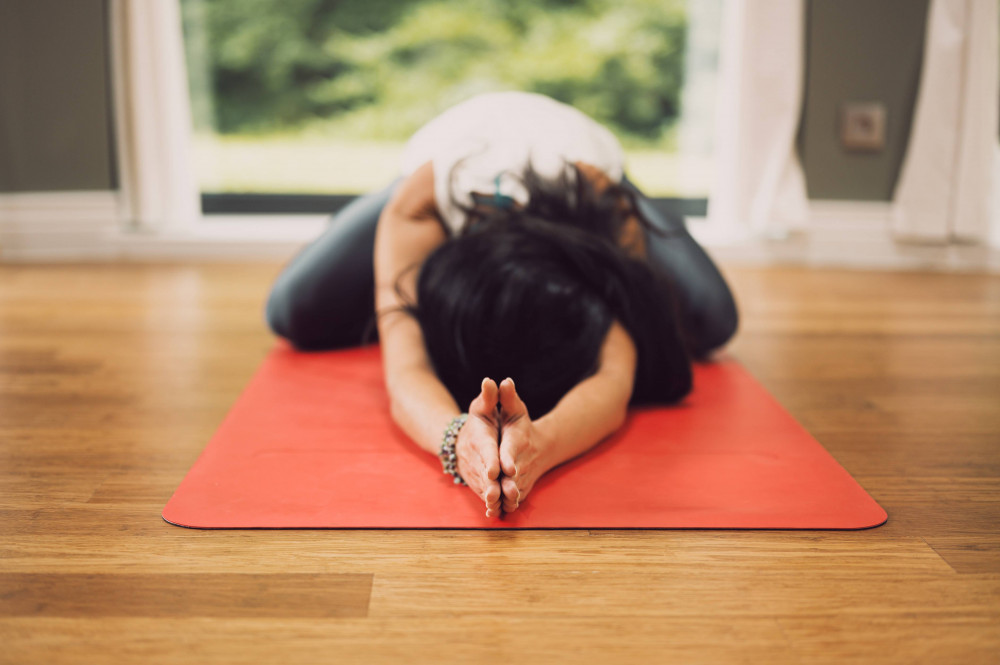 Stretching pose